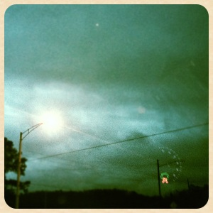 Day 361: This is a photograph of the crazy tornado sky Christmas day.