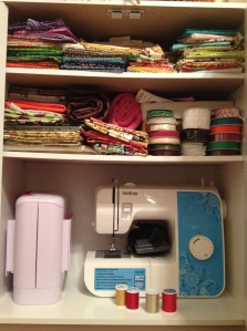 This is an after photograph. Some of my fat quarters are now out of place. This makes me nervous.
