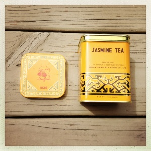 First, take the Jasmine tea tin you luckily haven't thrown out since your ex-boyfriend brought it over to your apartment years ago because he apparently thought you were that kind of people.  Which was really nice, you know, so you were like, Awww, thank you, even though secretly you were like, What the hell?  All I drink is Diet Coke, Folger's Simply Smooth, and the occasional wine cooler.  IT'S AS IF YOU DON'T KNOW ME AT ALL.
