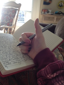 DO start your day by doing something awesome for yourself.  Here, I'm starting the day with a writing session, which felt awesome.  Also, you'll notice that my fingernail polish looks awful, but I took the picture anyway.  That's because in order to have a successful best single Valentine's Day ever, it is imperative that you DON'T worry about shizz as little as chips in your nail polish, girlfriend.